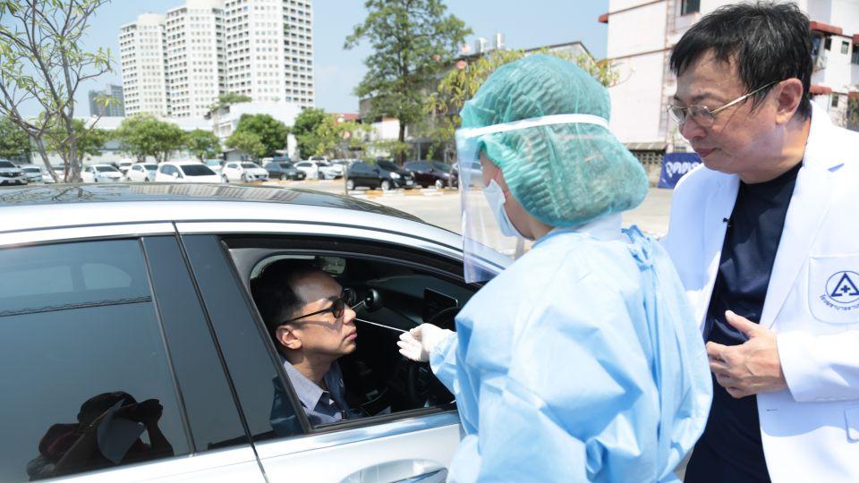 Drive-through COVID-19 Testing in Bangkok